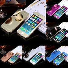 Front +Back Colored Mirror Tempered Glass Screen Protector For iPhone 5 5S SE