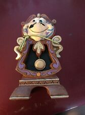Jim Shore Keeping Watch - Cogsworth Figurine - Beauty And The Beast Mint In Box