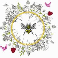 20 Servietten  Serviettentechnik Bee Loved Biene P+D 33x33