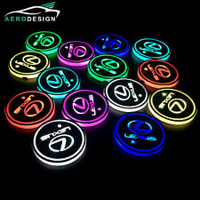 2Pcs Switchable 7 Colors RGB LED Car Cup Holder Pad Atmosphere Light For Lexus