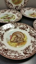 Spode woodland set of 5 dinner plates Includes Turkey
