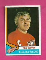 1974-75 OPC # 222 WINGS ALEX DELVECCHIO EX-MT  CARD (INV# C7999)
