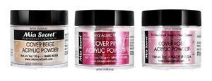 Mia Secret Acrylic Powder - Cover Beige , Pink , Rose 1.0 oz - Set of 3