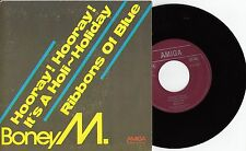 "Boney M - Hooray! hooray! it's a holi-holiday/Ribbons of , 7"" Single Amiga VG+"
