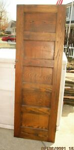 ANTIQUE VINTAGE 5 PANEL INTERIOR DOOR  32 x 83 WE SHIP!!!!!