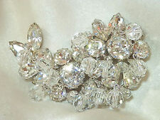 Weiss Signed Realllly FAB Vintage 50's Crystal Dangle Rhinestone Ice Brooch 10F7