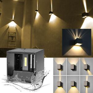 Wandlampe LED Wandleuchte Up and Down Lampen Strahler Innen Außen Effekt Strahl