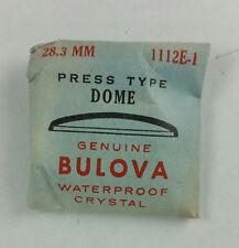 VINTAGE BULOVA PRESS TYPE DOME WATCH CRYSTAL - 28.3mm - PART# 1112E-1