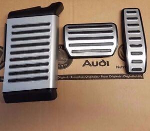 Audi Q7 4L original V12 Pedalset Pedale Pedalkappen Fußstütze pedal pads caps