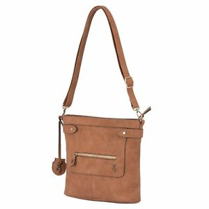 Browning Concealed Carry Purse, CCW Gun Handbag Brown Faux Leather Catrina