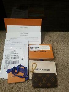 NWT! Louis Vuitton Key Pouch Key Pouch Coin Purse monogram Authentic 2021!