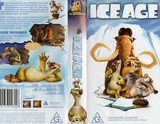 Ice Age - 2002 20th Centry Fox Animated VHS Movie Video Tape in Case