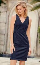 Bnwt *Next* (size Uk 12 tall) Navy Blue Lace-effect Bodycon Dress .
