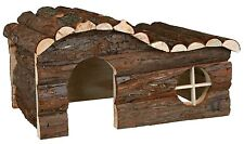 Large Natural Wooden Hanna House with Curved Roof for Chinchillas Rabbits