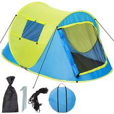 Tienda de campaña instantánea pop up 2 personas plazas acampar camping amarillo