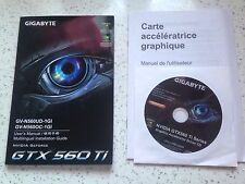 Manuel Carte Graphique GIGABYTE GTX 560 Ti. User'Manual Multilingue Drivers