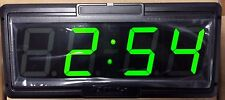 "Primex Wireless Clock XRA1B201G - 4"" 4-Digits Green GPS-acquired Time-New in Box"