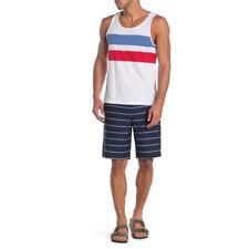 Hurley Men Blue Striped Surge Walking Shorts Pockets Summer Sz 30 NWT