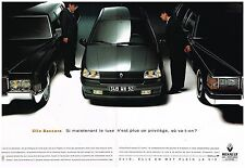 Publicité Advertising 1992 (2 pages) Renault Clio Baccara