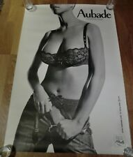 AUBADE Advertising Poster 93cm x 63cm Sexy Lingerie Nude, Folie Intense