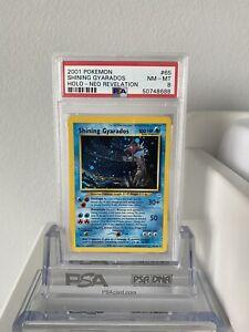Pokemon Psa 8 NM-MINT Shining Gyarados Holo 2001 Neo Revelation #65 Unlimited 💦