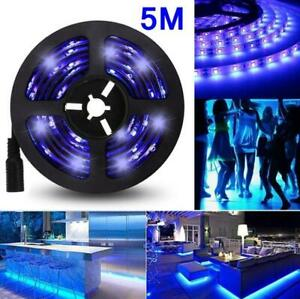 LED UV Light Strip Ultraviolet Flexible Purple 33FT Blacklight 5M 300LEDs