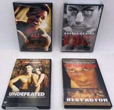 Boxing Movie Dvds 4 Pack Bundle (Ali) (Raging Bull) (The Hurricane) (Undefeated)