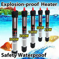 25/50/100/200/300W Aquarium Fish Tank Heater Submersible Water Temperature Rods