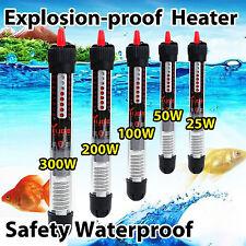 25/50/100/200/300W Submersible Water Heater Heating Rod Aquarium Fish Tank