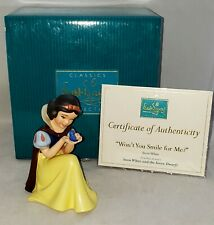 "WDCC Disney Classics SNOW WHITE Figurine #1217924 ""Won't You Smile for Me"""