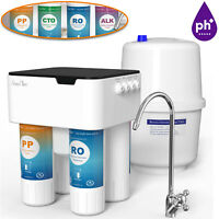 75GPD Under Sink Reverse Osmosis Drinking Water Filter System for Water Softener