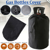 Black Waterproof Cover UV Protective Dust-proof Cover for Gas Bottles