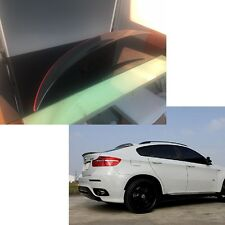 Carbon fiber + red line for BMW X6 E71 P Type Trunk Spoiler rear