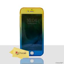 """360 ° Gel Estuche/Cubierta Para Apple iPhone 6/6s (4.7"""")/Azul/Oro De Gel De Silicona"""