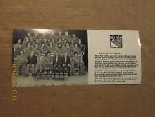 NHL New York Rangers Vintage Circa 1979-80 Black & White Hockey Team Photo