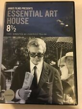 8 1/2 (DVD, 2010, Criterion Collection) ESSENTIAL ART HOUSE Good w/ Insert Janus