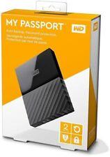 WD 2TB Black My Passport Portable External Hard Drive USB 3.0  Factory Sealed