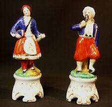 A 1840 porcelaine de Paris paire figurines statuettes 22cm 850g Jacob Petit rare