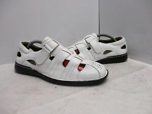 Stacy Adams White Adjustable Strap Fisherman Sandals Mens Sz 9 M Style 25259-100