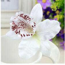 Bridal Wedding Orchid Flower Hair Clip Barrette Women Girls Accessories