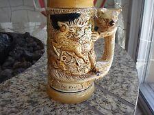 """Vintage Beer Stein Japan """"Die Grune Heid"""" Fox Handle Des Jagers Freud"""