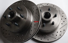 Fits 94-96 Dakota 4x2 RWD 4 Wheel ABS Drilled Slotted Brake Rotors Front Pair