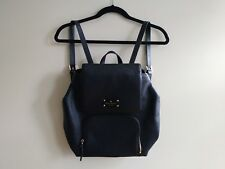 Kate Spade women black 100% leather backpack