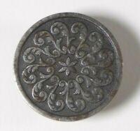 Bouton ancien - Métal - Rosace - 27 mm - XIXe - Steel Button