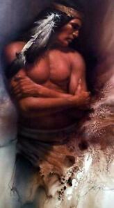 """Lee Bogle Brave Spirit Signed and Numbered Brave Spirit  Image Size 15.5""""x29"""""""