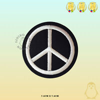 Peace Symbol Embroidered Iron On Sew On Patch Badge For Clothes Bags etc