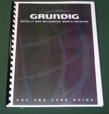 Grundig satellit 800 millenium radio shortwave am fm in box manual.