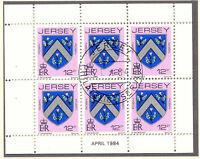 JERSEY 1984 April H-Blatt 12 P Wappen / Coat of Arms mit ESST VFU