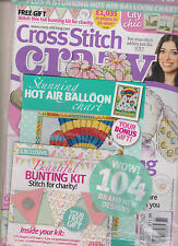 CROSS STITCH CRAZY UK MAGAZINE #181 OCTOBER 2013, SEALED WITH 2 FREE GIFTS.