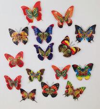 15 Stück doppelt-lagig Design 1 Schmetterlinge mit Magnet Kühlschrankmagnet